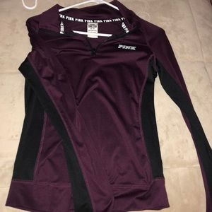 Black and maroon quarter zip